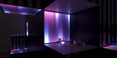 素材展LEDで彩るインテリア空間