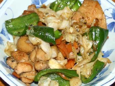 鶏の韓国風炒め物